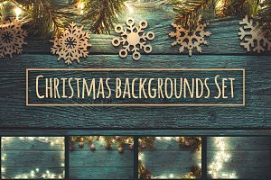 Christmas backgrounds set. 5 images.