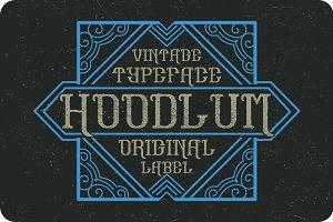 Hoodlum label font