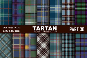 Seamless  Tartan Pattern Part - 30