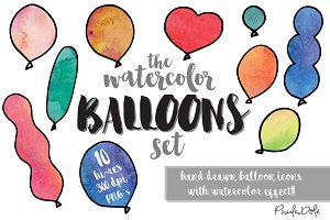 The Watercolor Balloon Set