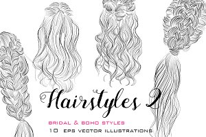 Hairstyles vector illustrations 2