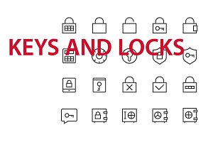 20 Keys and Locks UI icons