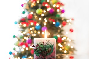 Traditional Christmas Candle