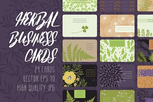 Herbal Business Cards