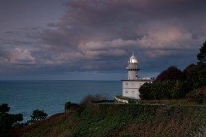 Lighthouse at nightfall