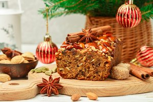 Homemade holiday Fruitcake