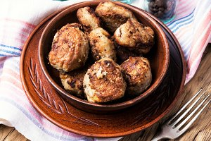 tasty homemade cutlets