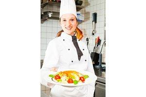 Chef Preparing Pasta