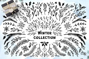 Winter collection. Merry Christmas