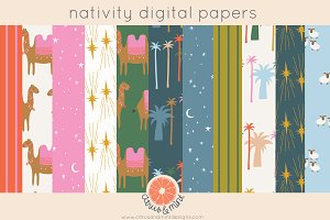 Christmas Nativity Digital Papers