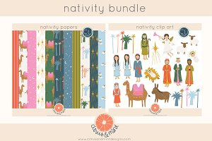 Christmas Nativity Clipart and Paper