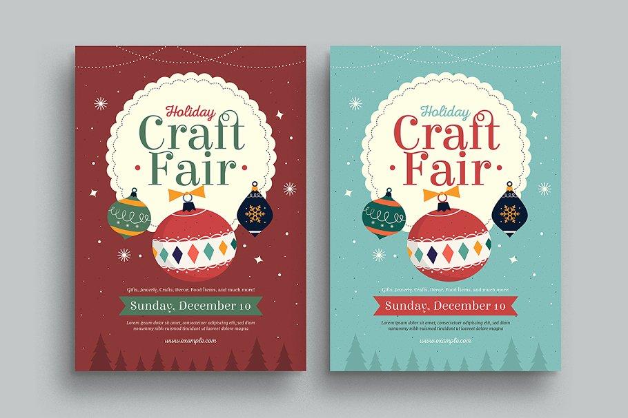 Christmas Craft Show Flyer.Holiday Christmas Craft Fair Flyer Flyer Templates