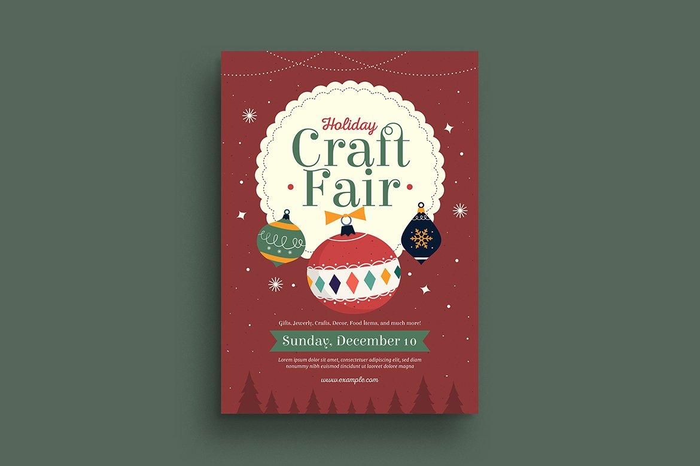 Holiday Christmas Craft Fair Flyer Creative Daddy