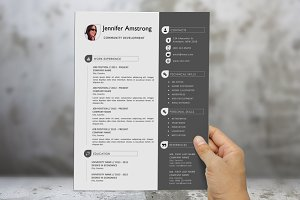 Pure resume template for Word