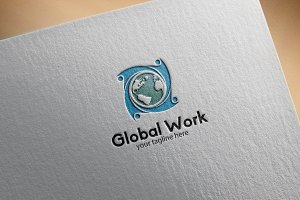 Global Work – Logo Template