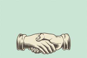Illustration of a handshake