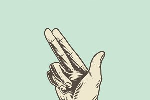 Illustration of hand in pointing