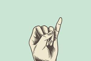 Illustration of promise finger