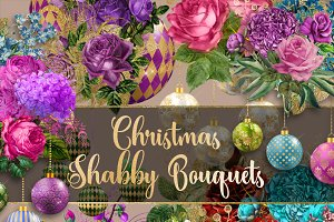 Christmas Shabby Bouquets