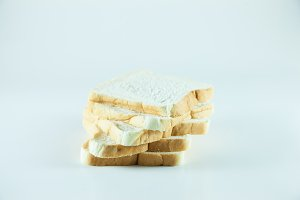 ​​bread on white isolated.