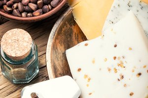 Swiss cheese with nuts