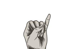 Illustration of a promise finger