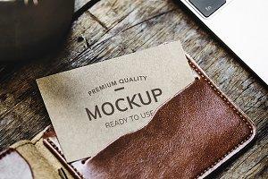 Calling card mockup (PSD)