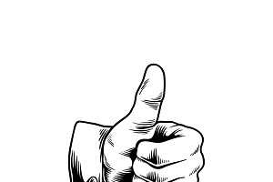 Illustration of thumbs up icon