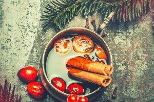 Christmas mulled wine mug