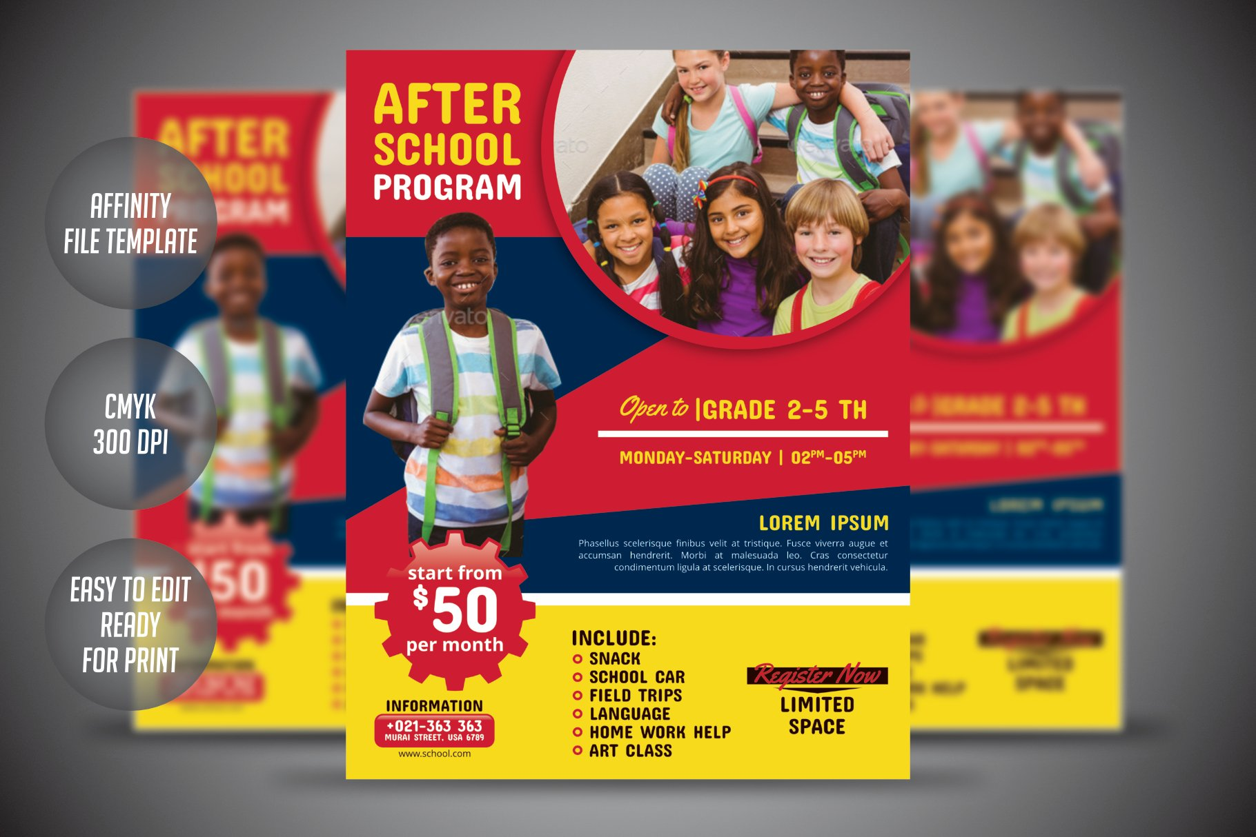After School Program Flyer Template Flyer Templates Creative Market
