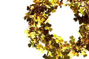 Christmas gold tinsel decoration