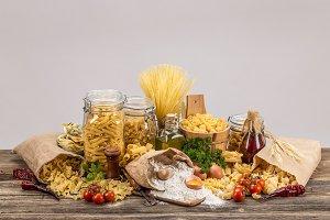Still life of pasta