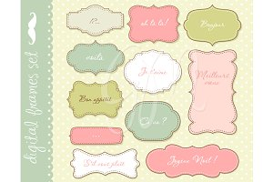 Frames clip art with backgrounds