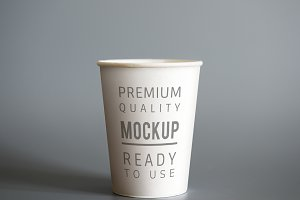 Paper cup mockup (PSD)