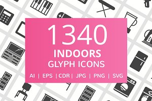 1340 Indoors Glyph Icons