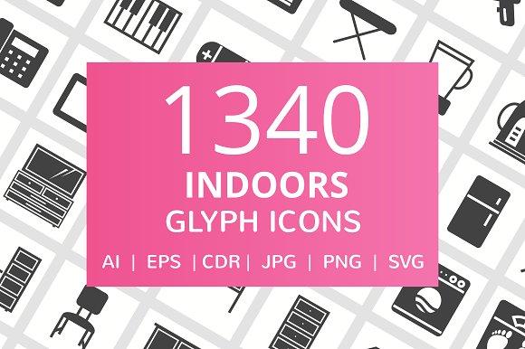 1340 Indoors Glyph Icons