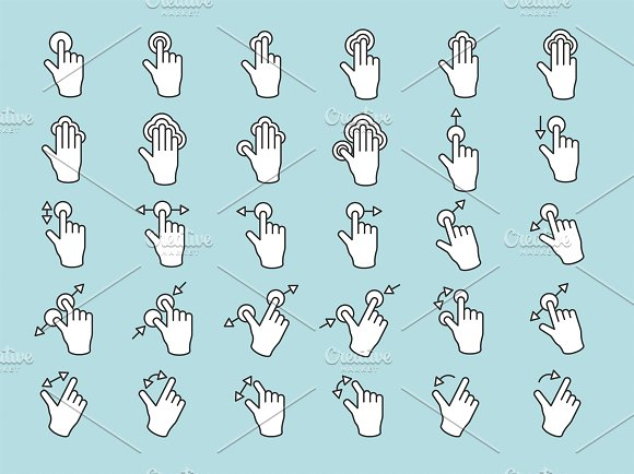Touch Screen Hands Vector