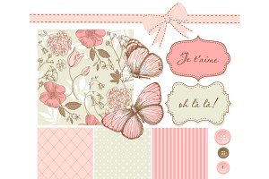 Shabby Chic Butterfly Scrapbook set