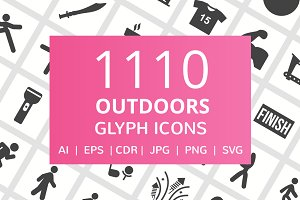1110 Outdoors Glyph Icons