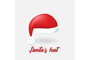Vector Santa Claus hat