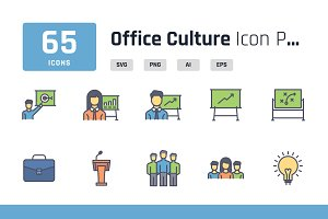 Office Culture Iconpack