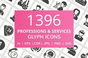 1396 Professions Glyph Icons