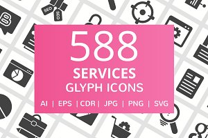 588 Services Glyph Icons