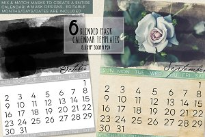 Blended Mask Calendar Templates