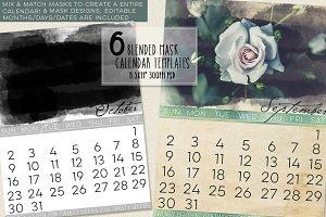 Blended Mask Calendar Templates