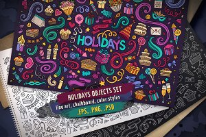 Holidays Objects & Elements Set