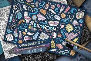 Bathroom Objects & Elements Set