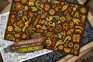 Africa Objects & Elements Set