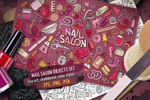Nail Salon Objects Set