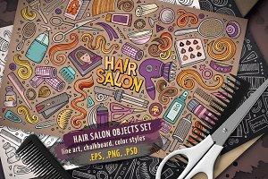 Hair Salon Objects Set